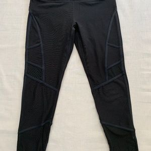 MPG Black Capri, with mesh and piping detail